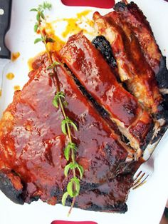 Ribs w homemade BBQ sauce recipe by Ferran Adria.