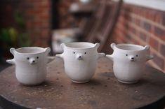 Incense Holder, Candle Holders, White Polar Bear, Zoo Keeper, Egg Holder, Cat Mug, Pottery Mugs, Afternoon Tea, Stoneware