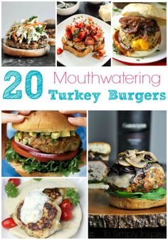 20 Mouthwatering Turkey Burgers