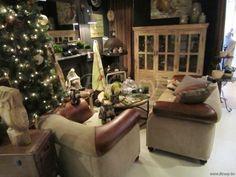 J-Line Lederen vintage sofa polo sport 95