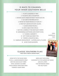 How to be a Southern Belle