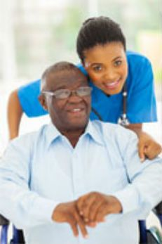 Photo about Elderly african american men and caring young caregiver at home. Image of home, handicapped, american - 33292201 African American Men, African Men, Home Health, Health Care, Caregiver Jobs, Healthcare Jobs, Alzheimer's And Dementia, Dementia Care, Certified Nurse