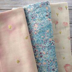 La douceur du tissu Nani Iro pour bien commencer la semaine // Beautiful Nani Iro fabic for a great start of the week #tissuandco #naniiro #tissu #fabriclove #naniirofabric