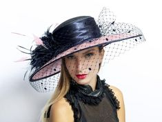 Award winning wide brim hat by Irina Sardareva Couture Millinery for Kentucky Derby, Audrey Hepburn Hat, Royal Ascot Hats, Church Hats, Wide-brim Hat, Vintage Inspired Dresses, Summer Hats, Derby Hats, Ladies Day