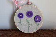 5 Hoop  Embroidery and Felt Hoop Art от FlowerMadeVintage на Etsy