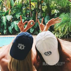 Monogrammed Hats | Marleylilly