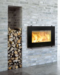 Fireplace with storage - IF YOU HAD A WOOD BURING FIREPLACE! Looks stupid with a fake one haha