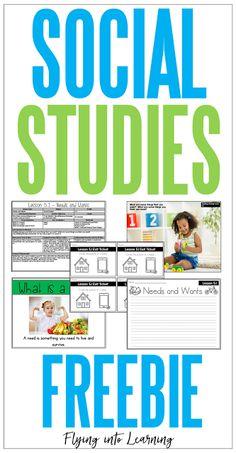 Social Studies Bundle: Get a Closer Look - Flying into First Grade