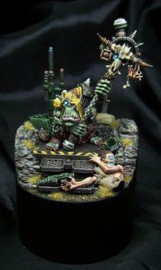 Ork Weirdboy (close up) by Razza