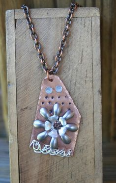 Necklaces Handmade copper hand cut by debsdesigns401 on Etsy