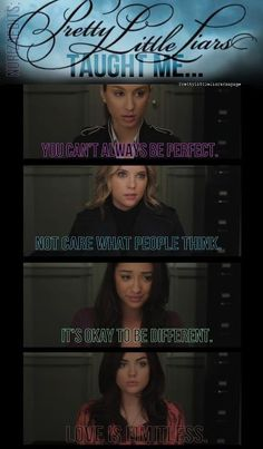 Pretty Little Liars taught me!(':