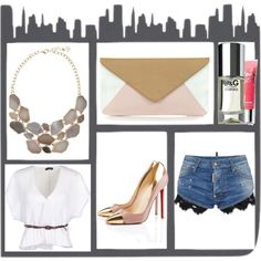 A fashion look from June 2013 featuring v-neck shirt, denim shorts and pocket purse. Browse and shop related looks. Urban Chic, Shoe Bag, Polyvore, Shopping, Collection, Design, Women, Fashion, Moda