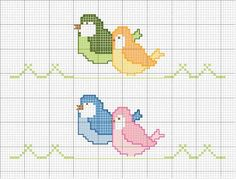 easy healthy breakfast ideas on the good day song Cross Stitch Bird, Cross Stitch Borders, Baby Embroidery, Embroidery Stitches, Minnie Baby, Cat Pee, Image Cat, Good Day Song, Crochet Stitches