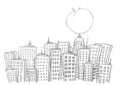 James and the Giant Peach in New York coloring page | Super Coloring