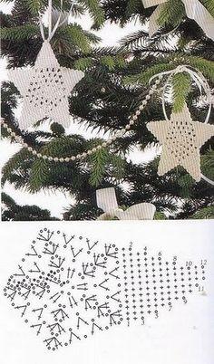 Crochet Star - Chart / Estrella de ganchillo - Gráfico