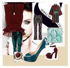 """My wardrobe"" by silvia-khatcherian on Polyvore featuring Isabel Marant, Balmain, Giambattista Valli, Christian Louboutin, Fendi, DENY Designs and LE VIAN"