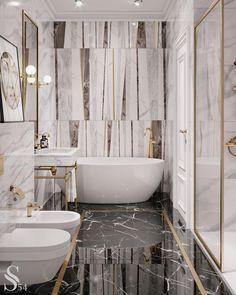 Home Interior Apartment Top 70 Best Marble Bathroom Ideas - Luxury Stone Interiors.Home Interior Apartment Top 70 Best Marble Bathroom Ideas - Luxury Stone Interiors Bad Inspiration, Bathroom Inspiration, Motivation Inspiration, Simple Bathroom, Modern Bathroom, Bathroom Ideas, Gold Bathroom, Tiled Bathrooms, Modern Vanity
