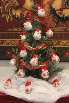 holiday gourds | Snowman Gourd Christmas OrnamentSanta HatHoliday by ... | Gourds