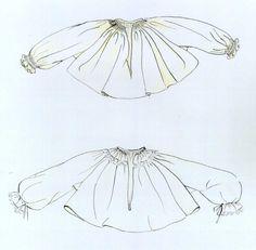 Rukávce, Turá Lúka, prvá štvrtina 20. storočia. a) Staršie rukávce na všedné dni. Ušité sú z konopného plátna. Nosili sa najmä koncom 19. storočia. Začiatkom 20. storočia si ich obliekali už len staršie ženy. b) Novšie rukávce na všedné dni. Ušité sú z jemného balneného plátna – šifónu. Začali sa nosiť koncom 19. storočia spočiatku ako sviatočné. Začiatkom 20. storočia sa sviatočnými rukávcami stali rukávce z tenkého batistu alebo mulu. Rukávce zo šifónu sa odvtedy nosili už len vo všedné… Sewing Ideas, Clothing, Bags, Fashion, Shirts, Outfits, Handbags, Moda, Fashion Styles