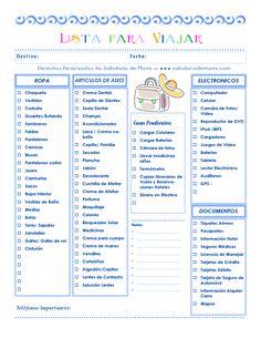 Sabiduría de Mami | Lo que necesitas para Viajar | http://www.sabiduriademami.com