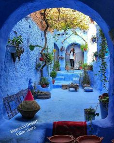 Chefchaouen The Blue Pearl - Morocco Picture by . for a feature - via Wonderful Places on : Amazing Destinations - International Tips - Dream - Exotic Tropical Tourist Spots - Adventure Travel Ideas - Luxury and Beautiful Resorts Pictures by Lightroom, Photoshop, Beautiful Streets, Beautiful World, Patio Azul, Blue City Morocco, Wonderful Places, Beautiful Places, Destination Voyage