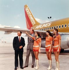 Suits and hot pants ... at Southwest Airlines