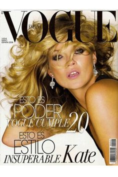 The Evolution Of Kate Moss, In 66 Vogue Covers 2008 Spain