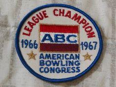 A Junkee Shoppe Junk Market Stop: ABC BOWLING PATCH League Champion 1966 1967 Season ... For Sale Click Link Here To View >>>> http://ajunkeeshoppe.blogspot.com/2016/01/abc-bowling-patch-league-champion-1966.html