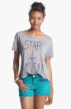h.i.p. 'Star + Moon' Graphic Tee (Juniors) available at #Nordstrom
