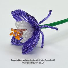Use basic techniques in this French beaded Aquilegia tutorial. This project is suitable for all levels and comes with free technique sheets.