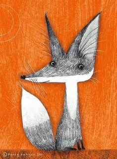 You can feel th epersonality in this illustration! So captivating and sure to be a loved pal in the room fox by Terry Runyan Motifs Animal, Fox Illustration, Fox Art, Woodland Creatures, Illustrators, Art Drawings, Drawing Sketches, Art Photography, Street Art