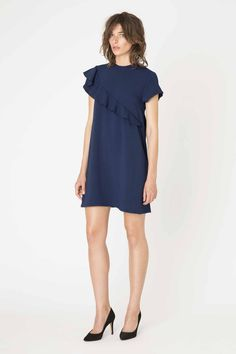 Santa Monica navy blue dress from Ganni Spring / Summer collection.