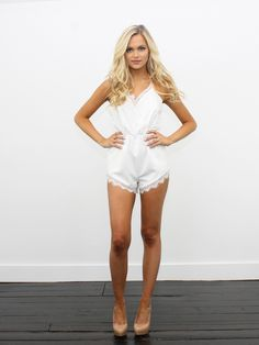 'Daisy Duke' Halter Romper - Kittenish Collection