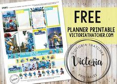 Smurfs Planner Printable. Victoria Thatcher