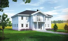 Odel er en herskapelig villa | Norgeshus Home Fashion, House Rooms, Beautiful Homes, Building A House, House Plans, Sweet Home, Villa, Home And Garden, Room Decor
