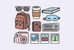 Premium Vector Clipart Kawaii Travel Clipart Kawaii Clip