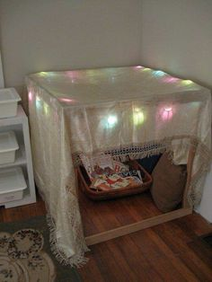 This is more appropriate station, b/c you can see everything. Cozy cubbies for children