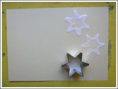 No need for spending rubber stamps--glitter and glue! So cute!