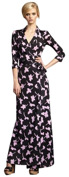 Multi Diane Von Furstenberg Abigail Wrap Maxi Dress. Free shipping and…