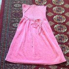 Pink Juicy Couture swimsuit cover up dress VGUC. Worn a few times. Juicy Couture Swim Coverups