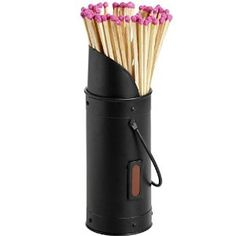 Coal Scuttle Design Fireside Metal Matchstick Holder Scuttle Design And 40 Extra Long Matches Sticks - New: Amazon.co.uk: DIY & Tools