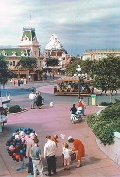 Main Street USA viewed from the train