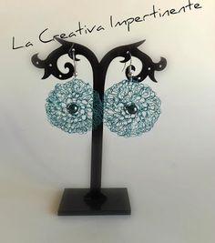 La Creativa Impertinente: Tutorial uncinetto e filo metallico: orecchini in wire crochet