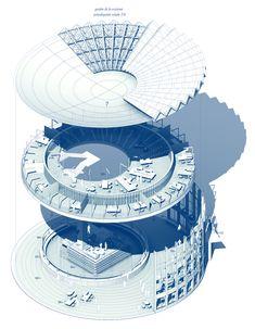 """Segundo Premio compartido. """"Changing the Face 2013 Rotunda Warsaw"""" organizado por PKO Bank Polski y Dupont. Warsaw. Poland. // Rodrigo Garcia, Maciej Siuda y Gonzalo del Val"""
