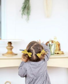 Soor Ploom x Free Babes Handmade Pigtail Set by Free Babes Handmade. Classic bows for you little girls adventerous style. Photo by @veronicalolaphoto