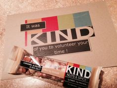 KIND Bars - My 'Thank You' to co-workers that served on a committee with me !