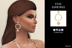 STAE EARRINGS for The Sims 4