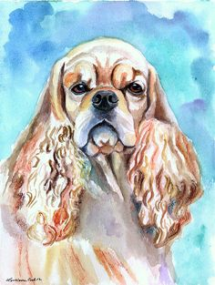 Beauty - American Cocker Spaniel Painting  - Beauty - American Cocker Spaniel Fine Art Print