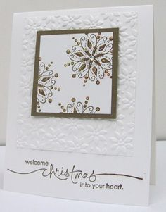 Stampin' Up Card Samples | Stamp With Glenda: WOW Christmas Card with Snow Swirled