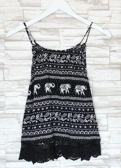 Maya Elephant Scalloped Crochet Top - Thumbnail 75